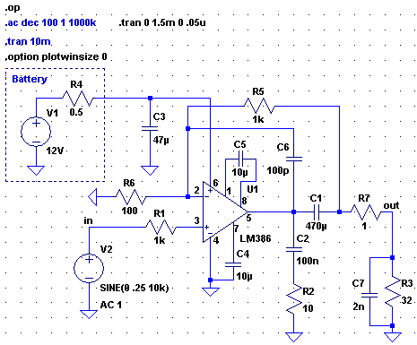 [LM386 used a bit 